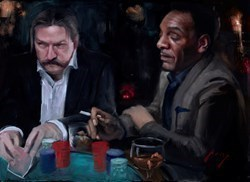 The Swede and Omar Study by Vincent Kamp -  sized 24x17 inches. Available from Whitewall Galleries